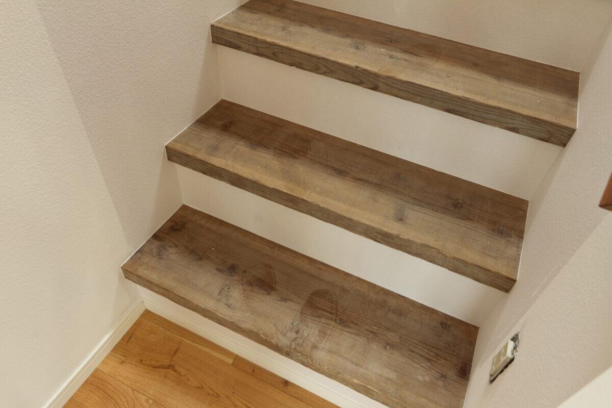 足場板の階段