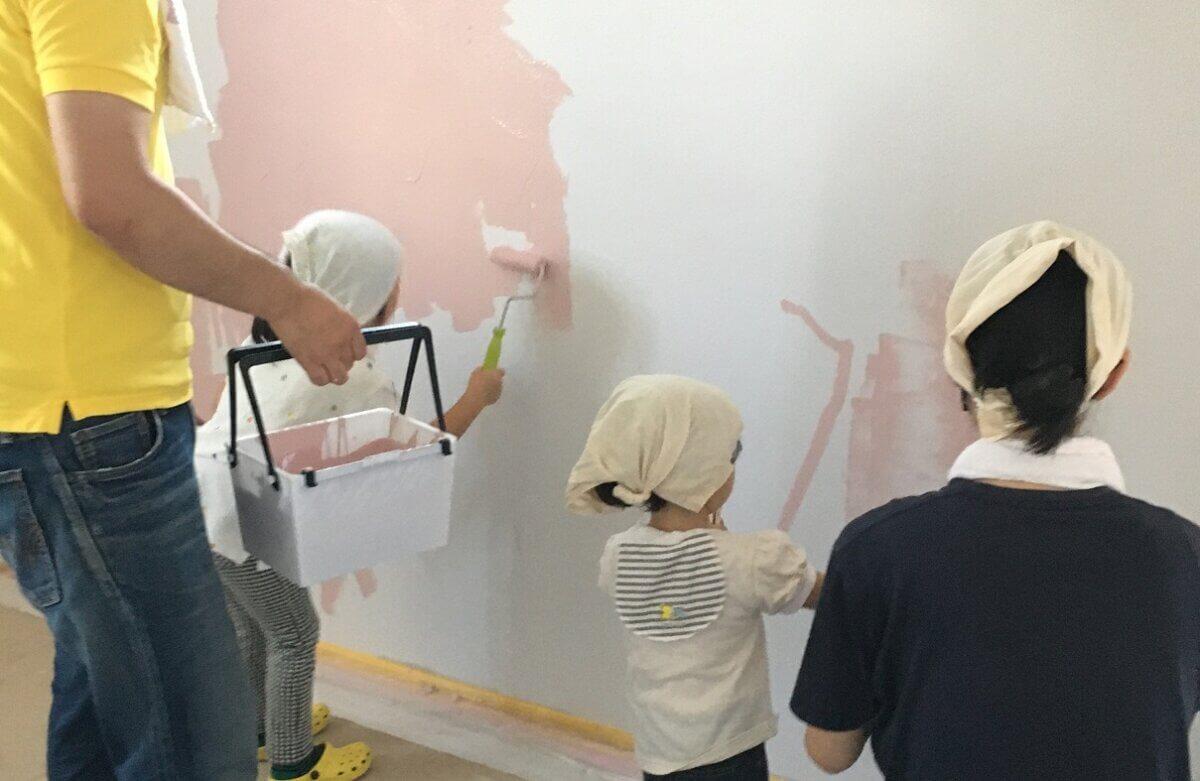 自然塗料を使った親子DIY